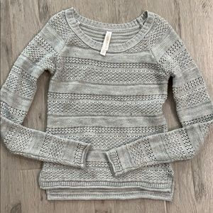 Aeropostale XS Heather Gray Lightweight Sweater
